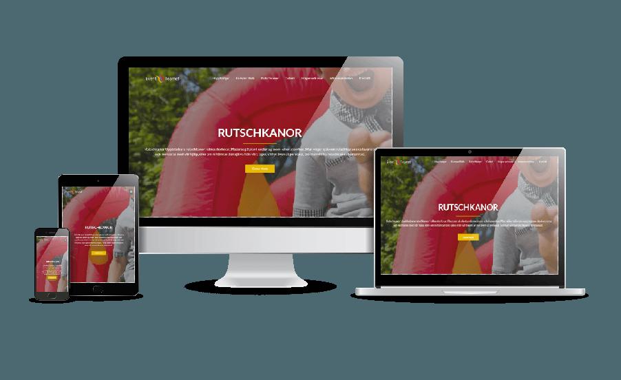 WordPress hemsida - webbdesign Snygga webbsidor 2018. Hemsida till Event Teamet. Galleri snygga hemsidor 2018. Webbdesign webbyrån Hjälp med Hemsidan