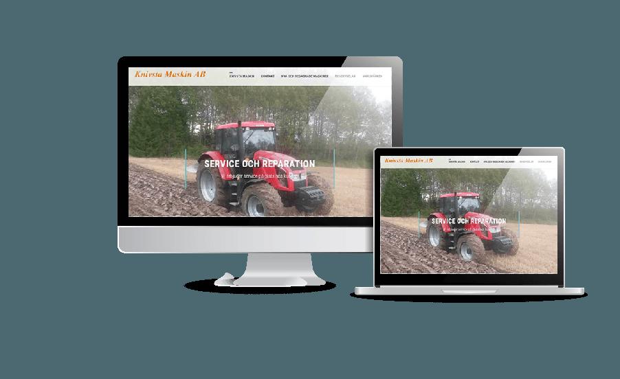 WordPress hemsida - webbdesign Hemsidor till företag Snygga webbsidor galleri 2018 Knivsta Maskin AB maskiner och reparationer i Knivsta Webbdesign av Hjälp med hemsidan en webbyrå i Stockholm