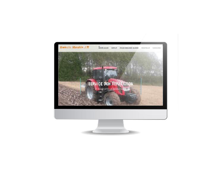 hemsida till företag som säljer maskiner och servar dem