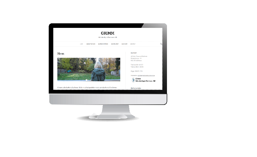 Snygga hemsidor galleri 2018 Advokat snygg hemsida webbdesign av Hjälp med hemsidan en webbyrå Åkersberga och Stockholm
