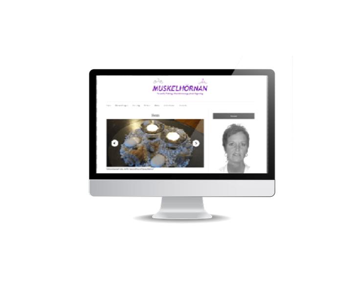 webbsida till PT Personlig tränare