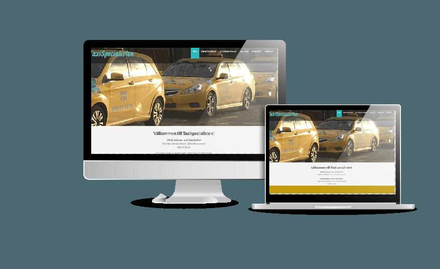 Hemsida till taxirörelse Taxispecialisten Skapar hemsidor billigt i WordPress snygga hemsidor inspiration webbyrån Hjälp med hemsidan i Stockholm och Åkersberga