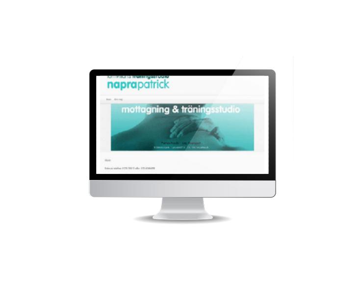 webbsida till naprapat i Östhammar