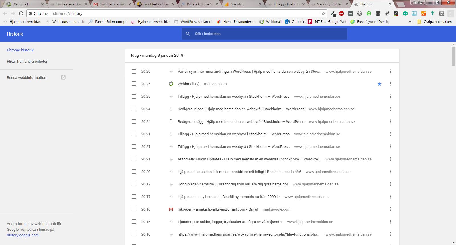 Ändringarna på hemsidan syns inte - Tips från Hjälp med hemsidan