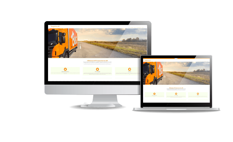WordPress hemsida - webbdesign Snygga hemsidor galleri 2018 Webbdesign Transportservice Webbyrån Hjälp med hemsidan i Åkersberga