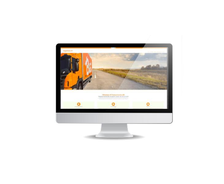 webbsida till transportföretag