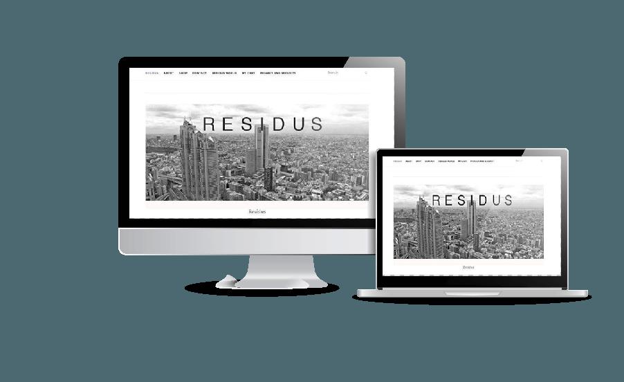 Snygga webbsidor 2018 Residus klädföretag hemsida Webbyrån Hjälp med hemsidan har gjort webbdesignen