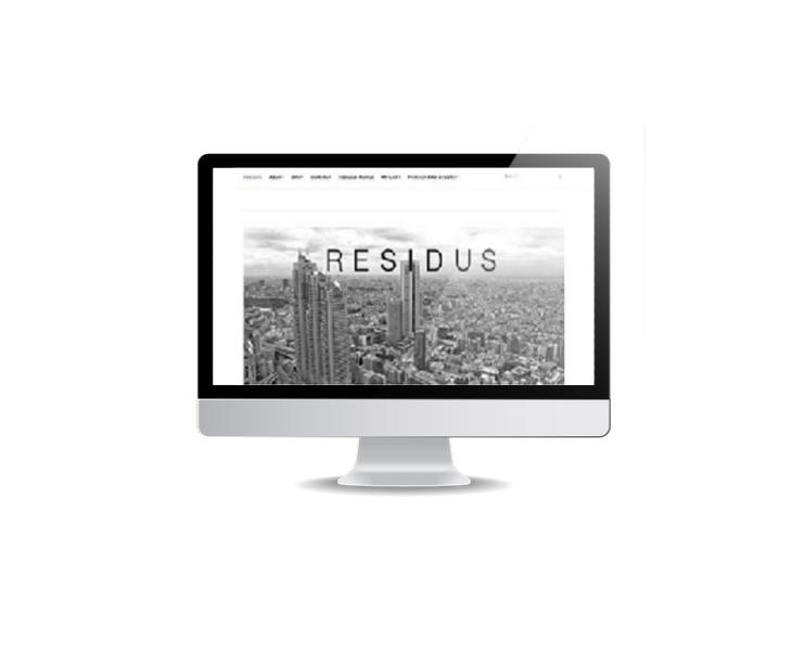 webbsida till klädföretag Residus