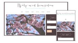 responsiv webbdesign - mobilanpassd hemsida webbdesigner Annika Vallgren Hjälp med hemsidan