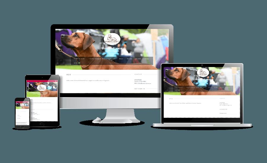 Hemsida hunduppfödning Billiga hemsidor exempel inspiration hemsida i WordPress Design av webbyrån Hjälp med hemsidan