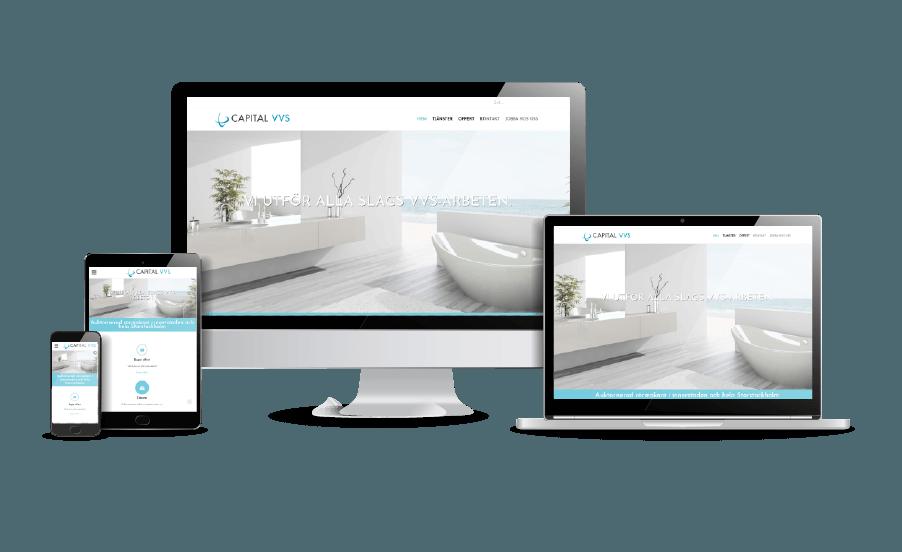 WordPress hemsida - webbdesign Snygg webbsida galleri 2018 VVS installatör Stockholm webbdesigner Hjälp med hemsidan en webbyrå i Stockholm och Åkersberga