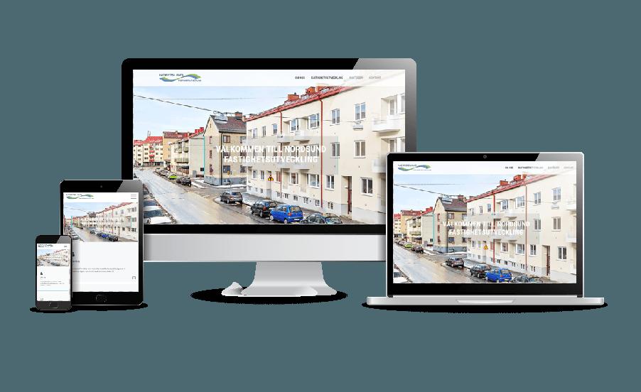 Hemsida till fastighetsbolag Nordsund Webbdesigner webbyrå i Stockholm Exempel på snygga hemsidor Webbyrån Hjälp med hemsidan i Stockholm Åkersberga