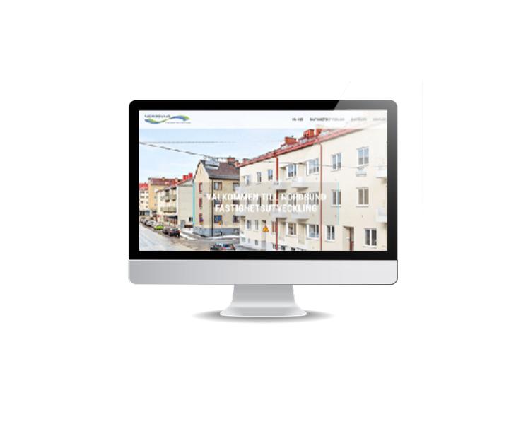 webbsida till fastighetsbolag