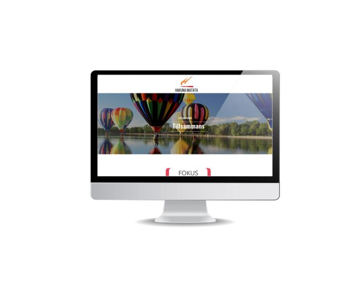 Webbsida till utbildningsföretag