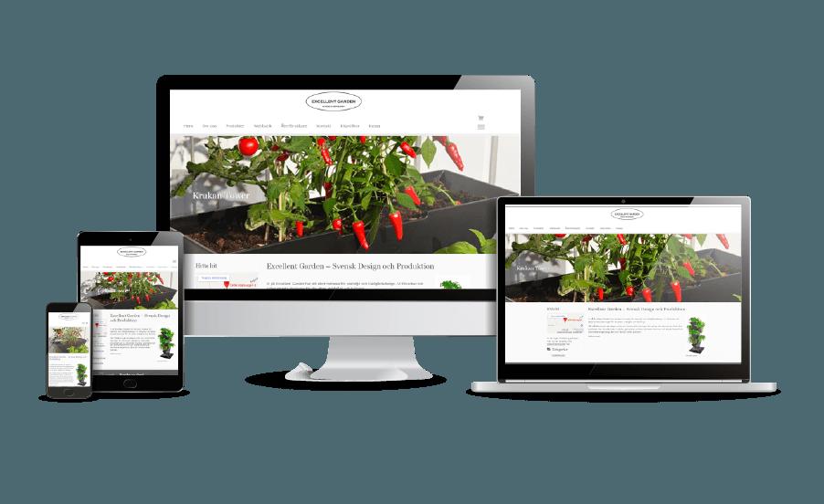 WordPress hemsida - webbdesign Snygga hemsidor 2018 Responsiva hemsidor Excellent Garden webbsida Webbdesign Hjälp med hemsidan