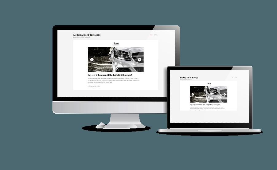 Hemsida bilförsäljare husvagnsförsäljare Göteborg Snygga och billiga hemsidor Webbyrån Hjälp med hemsidan Stockholm