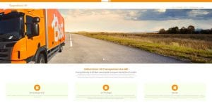 Snygg hemsida exempel och inspiration Snygga hemsidor 2018 Webbyrå i Stockholm Hjälp med hemsidan i Stockholm Transportservice hemsida Hemsida till företag i Stockholm