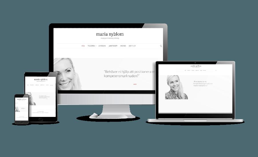 WordPress hemsida - webbdesign Riktigt fina hemsidor Maria Nyblom Galleri 2018 Webbdesigner hjälp med hemsidan