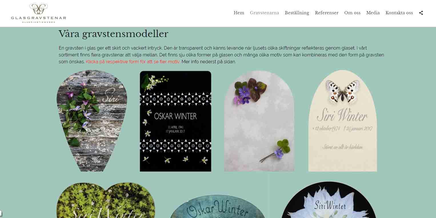 Glasgravstenar Mindre korrigering av hemsidan snygga hemsidor 2018 galleri hemsidor