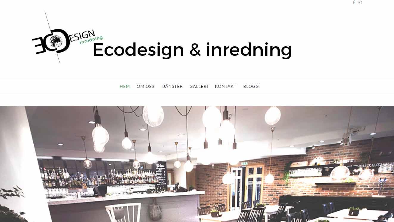 Snygg hemsida 2017 galleri hemsidor Ecodesign