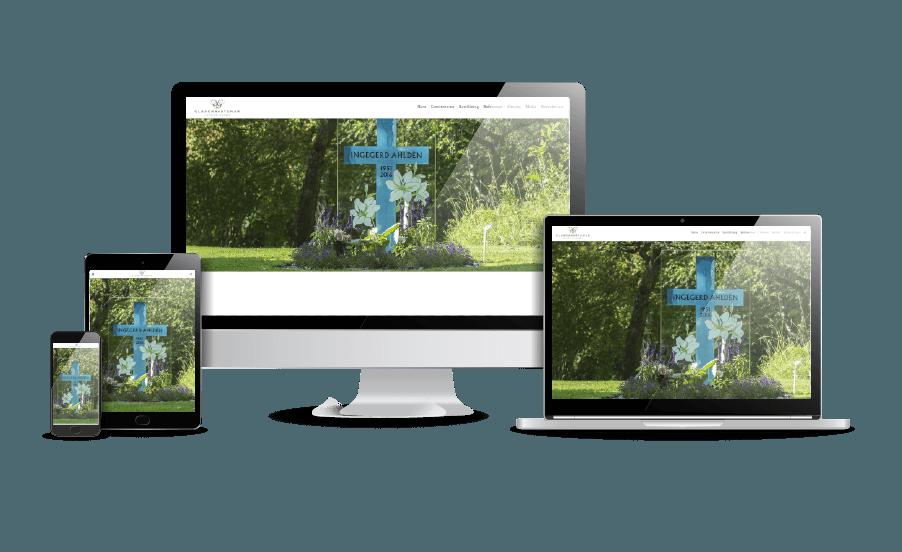 Snygg hemsida galleri Gravstenar Glasgravsten hemsida Webbdesigner Hjälp med hemsidan