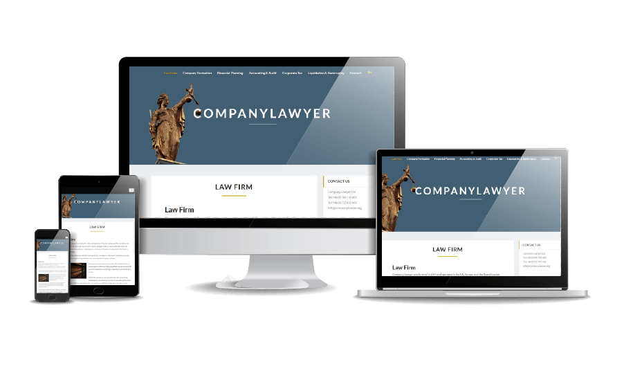 WordPress hemsida - webbdesign Snygga hemsidor exempel galleri 2018 Company Lawyer advokater och jurister Stockholm London Webbdesign Annika Vallgren Hjälp med hemsidan