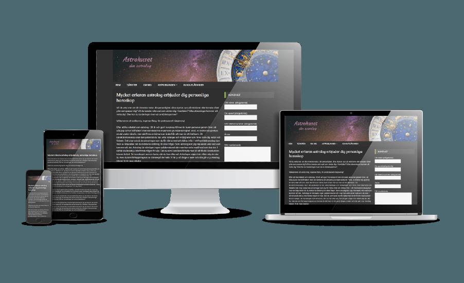 Finaste hemsidorna 2018 Snygg webbdesign Astrohuset modern hemsida Webbdesign Hjälp med hemsidan en webbyrå i Stockholm