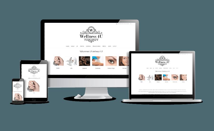 Snygg hemsida Skönhetssalong Wellness 7 U Umeå webbdesigner Hjälp med hemsidan i Åkersberga och Stockholm