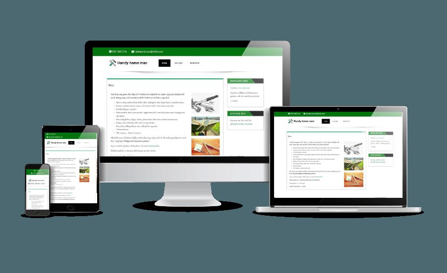 Hemsida till hantverkare Snygga hemsidor 2018 Galleri Handy Home Man Hantverkare hemsida Webbdesign av Hjälp med hemsidan