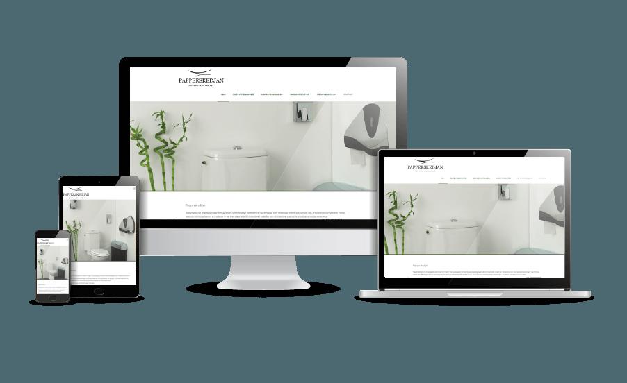 Snygga hemsidor Galleri 2018 Papperskedjan pappersgrossist Webbdesigner Webbyrån Hjälp med hemsidan i Åkersberga Stockholm