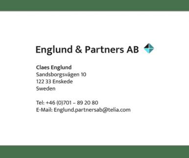 Englund och partner visitkort
