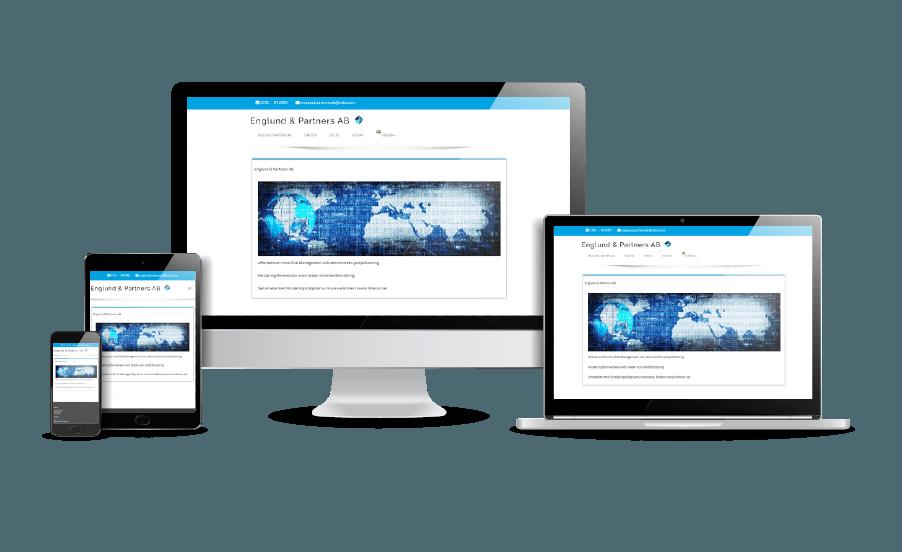 WordPress hemsida - webbdesign Snyggaste hemsidan 2018 Galleri Englund och Partners Webbdesigner Hjälp med hemsidan en webbyrå i Stockholm och Åkersberga