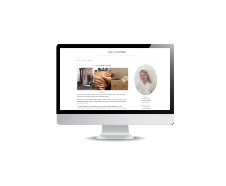 Snygg hemsida till fotvård