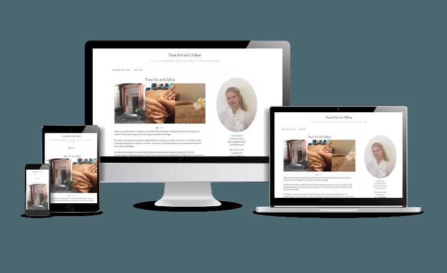 Snygga hemsidor 2018 galleri Vasa Fot och Hälsa Göteborg Webbdesign webbyrån Hjälp med hemsidan