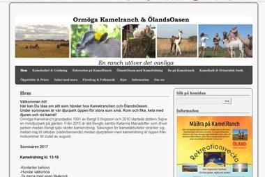 Snygg hemsida exempel och inspiration Hemsida före ändringar Omröga kamelranch Hjälp med hemsidan snyggade till den