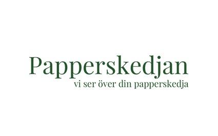Hjälp med hemsidan har gjort logga till papperskedjan i Halmstad