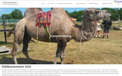 Ormöga kamelranch hemsida efter modernisering
