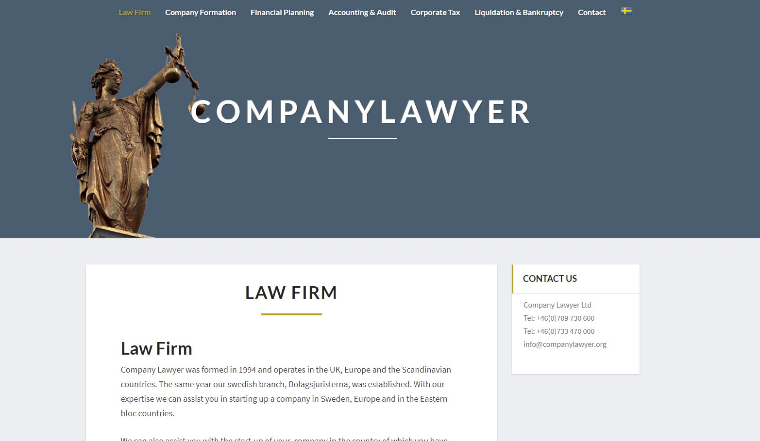 Snygg hemsida exempel och inspiration Companylawyer Snygga hemsidor 2017 Hjälp med hemsidan webbdesign