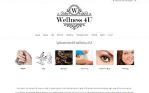 Snygg hemsida exempel och inspiration Snygga hemsidor Webbyrå i Stockholm Snygg hemsida till Wellnes 4U i umeå