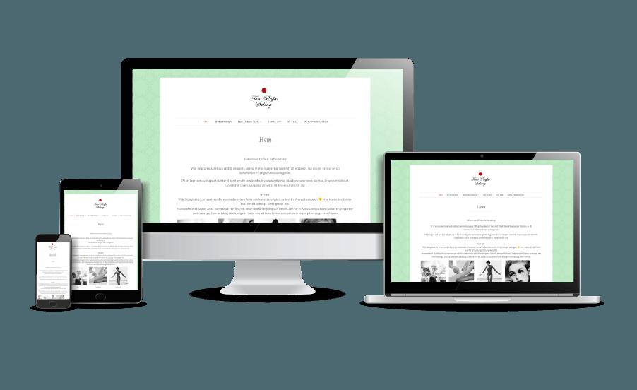 WordPress hemsida - webbdesign Snygg webbdesign exempel Galleri 2018 Snygga hemsidor Tant Raffas Salong Stockholm Design Webbyrån Hjälp med hemsidan