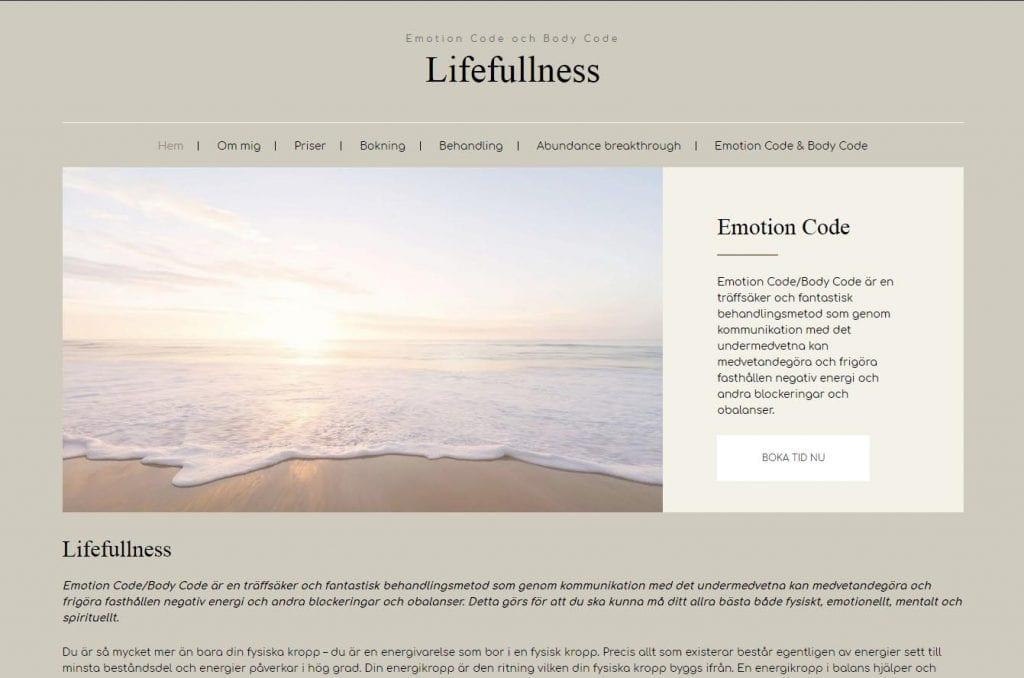 Snygg hemsida exempel och inspiration Lifefullness Snygga hemsidor 2017 Hjälp med hemsidan en webbyrå i Stockholm
