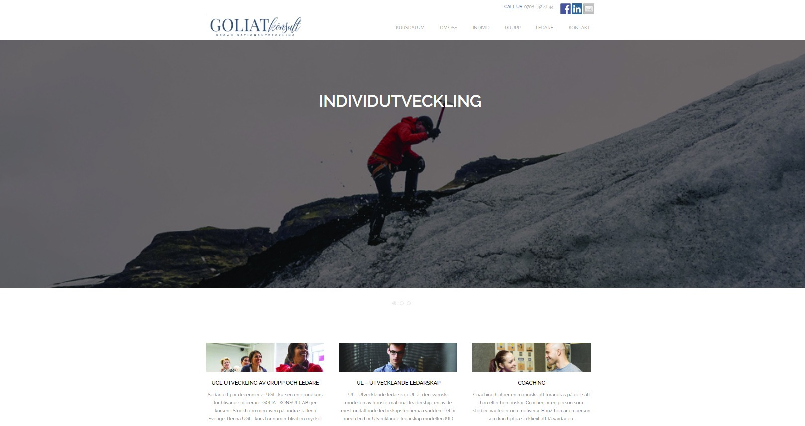 WordPress hemsida - webbdesign Goliat Konsult AB Åkersberga Stockholm - Snygg hemsida exempel och inspiration - webbyrån Hjälp med hemsidan
