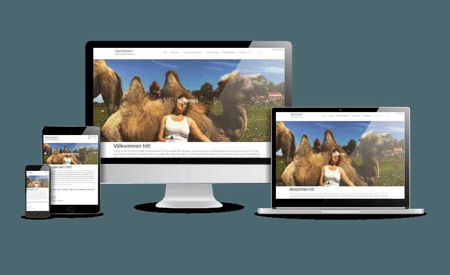 WordPress hemsida - webbdesign Snygga hemsidor exempel 2018 Ormöga Kamelranch Öland Borgholm Webbdesign Hjälp med hemsidan