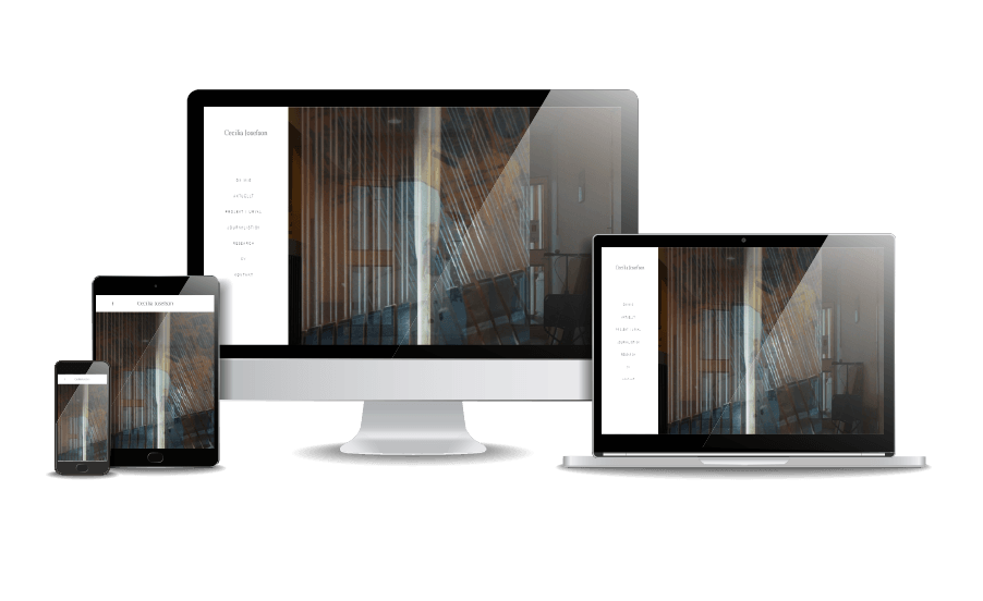 WordPress hemsida - webbdesign Snygga hemsidor galleri 2018 Journalist Cecilia Josefsson Webbdesigner Hjälp med hemsidan