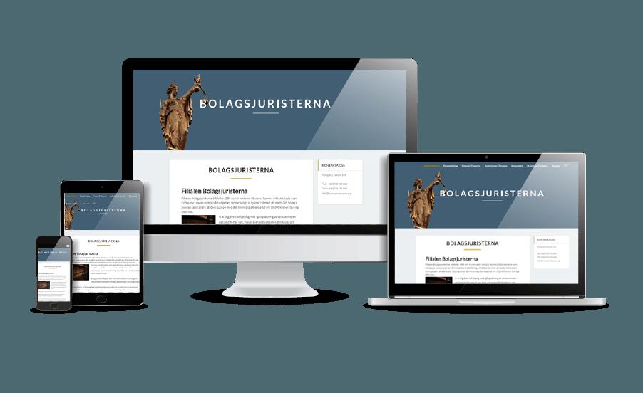 WordPress hemsida - webbdesign Snygga webbsidor galleri 2018 Bolagsjuristerna Stockholm Älvsjö Webbdesigner Hjälp med hemsidan