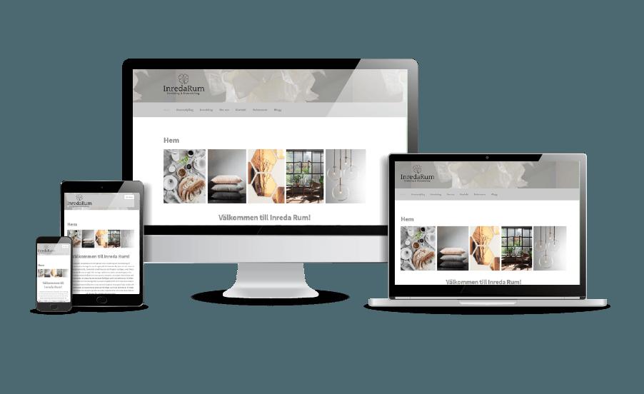 Hemsida till homestylingföretag Snyggast hemsida 2018 exempel Inreda Rum Tyringe i Skåne Webbdesigner Hjälp med hemsidan en webbyrå i Stockholm