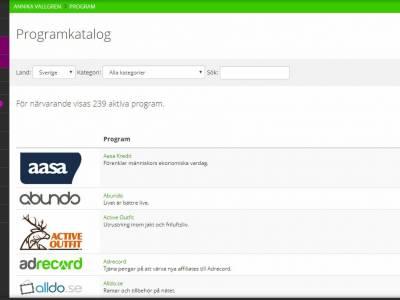 Sök efter affiliateprogram så att du kan tjäna pengar på din hemsida