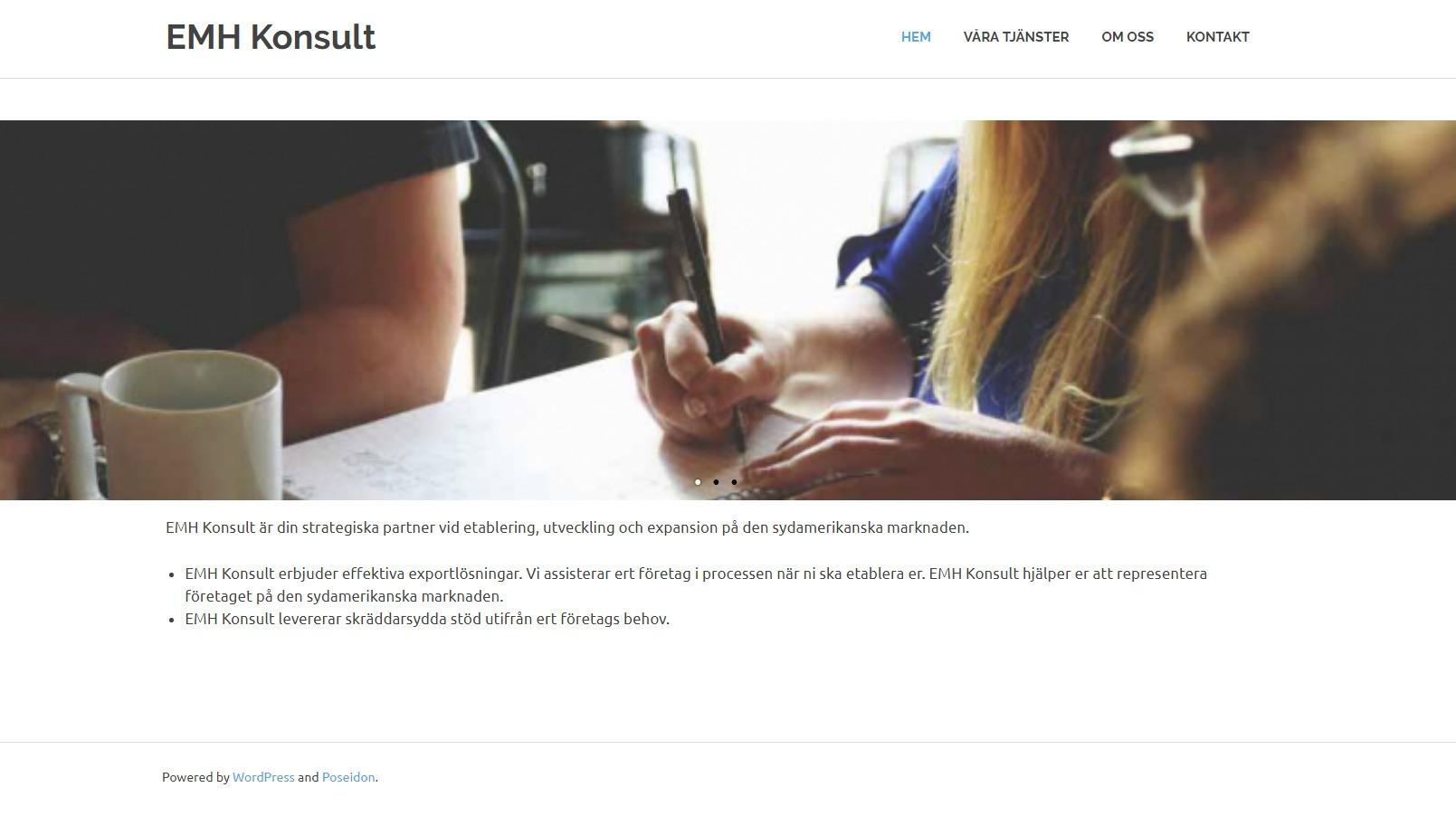Snygg hemsida exempel och inspiration snygga hemsidor 2018 EMH konsult