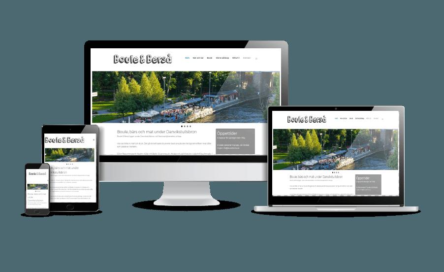 Snygga hemsidor exempel 2018 Boule och Berså Stockholm Webbyrån Hjälp med hemsidan