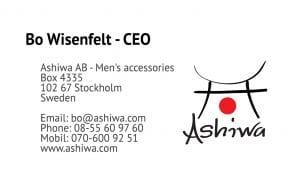 Ashiwa Visitkort till företag design av Hjälp med hemsidan